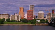Portland Skyline And River