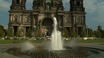 Fountain In Front Of Berliner Dom Cathedral