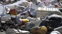 Trash Floats As It Collects In Los Angeles River System