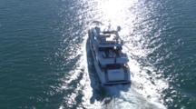 Superyacht Alani II Motoring On Calm Water