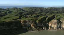 Aerial Of Cape Kidnappers Near Gannet Colony
