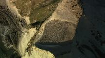 Aerial Of Cape Kidnappers, Gannet Colony, Rugged Coastline