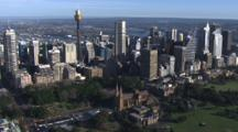 Aerial Sydney Park And Skyline Including Sky Tower
