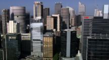 Aerial Close Up High-Rise Buildings Of Sydney Cbd
