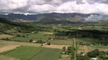 Aerial, Landscapes, Farmland, Fires, Viti Levu, Fiji