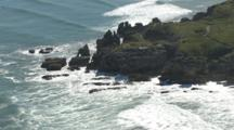 Aerial, Punakaiki Rocks/Pancake Rock, Flying Up And Back Down The Pororari River, Paparoa National Park
