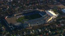 Aerial View Of Auckland, Sky Tower, Eden Park Stadium
