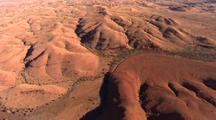 Aerial Of Ancient Hills And Dry River Bed