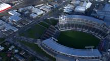 Aerial Christchurch Earthquake, Flooding Near Ami Rugby Stadium