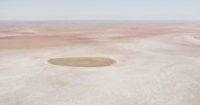 Aerial,Flat Landscape Of Western Australia,Possibly Salt Flat