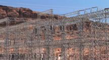Hydroelectric Power Station. At The Hoover Dam, Zoom In