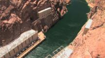 Colorado River, Flowing From Hoover Dam And Power Generators