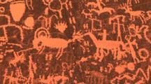 Petroglyphs, Newspaper Rock, Utah, Pan & Tilt