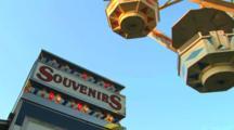 Souvenir Stand And Ferris Wheel At The Carnival, Clark County Fair, Washington