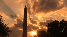 Sunset On The Washington Monument, Time Lapse
