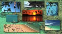 Tropical Destination Montage In Hawaii