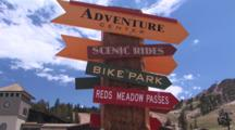 Directional Signs For Bike Park And Adventure Center