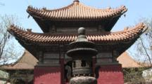 Lama Temple Pagoda And Incense Burner