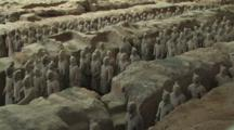 Terracotta Soldiers In Trenches, Mausoleum Of Emperor Qin Shi Huang, Xi'an, Shaanxi Province, China, Zoom In
