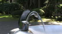 Water Streaming Out Of A Drinking Fountain, Portland, Oregon