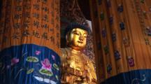 Golden Buddha, Jade Buddha Temple, Shanghai, China, Zoom In