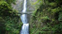 Historic Multnomah Falls In Oregon
