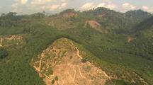 Aerial View Of Malaysia, Clear Cutting, Roads, Agriculture