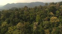 Aerial View Of Malaysia, Dense Forest, Mountains