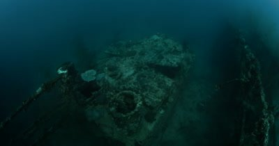 The Amatsu Maru oil tanker WWII Japanese wreck , nicknamed the Black Coral Wreck