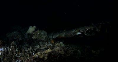 Night shot of Jake's sea plane wreck, a Aichi E13A-1 Japanese Navy Seaplane from World War II