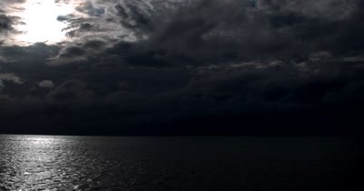 Stormy Dark clouds over the sea