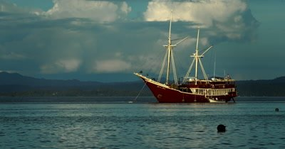 The Sevenseas liveaboard Boat anchored in calm waters