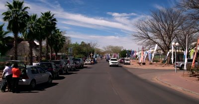 Celebratory flags in the streets of Gaborone City for the 50 years of independence