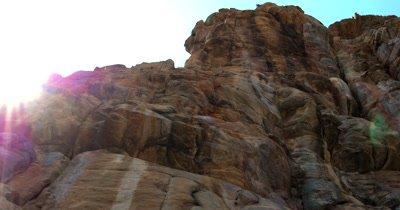 Bushman rock paintings of Antelope on a quartzite rock face at Tsodilo Hills