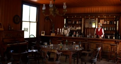 A bar  in the recreated village of Kimberly, at the Big Hole