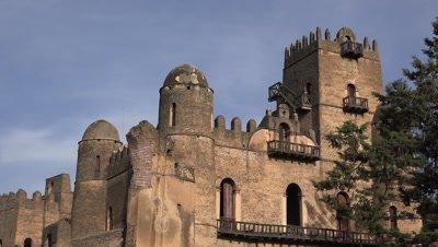 Gondar Fasil Ghebbi, Fasilides castle medium shot