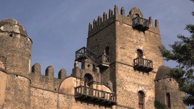 Gondar Fasil Ghebbi, close shot of tower