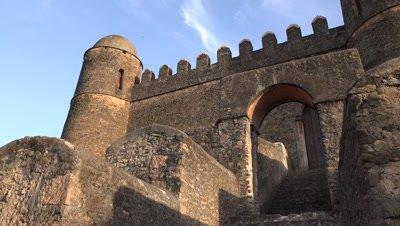 Gondar Fasil Ghebbi, castle stairs