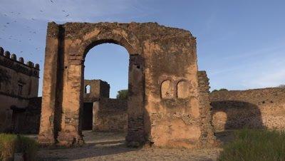 Gondar Fasil Ghebbi, gate at dawn
