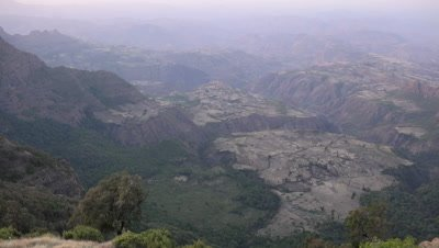 Simien mountains panorama pan LR