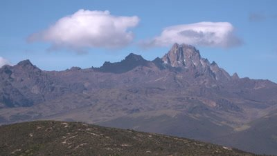 White cap clouds over Mt kenya summit, UHD 4K