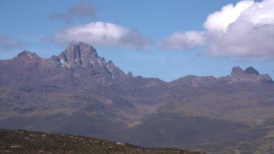 Time lapse clouds over Mt kenya summit,, UHD 4K