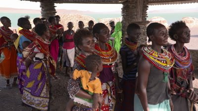 El Molo Village, women singing in hut, UHD 4K