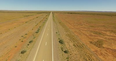 Aerial - Australian outback straight road