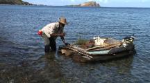 Fisherman Blessing His Raft