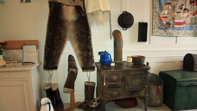 Inuit kitchen,a typical kitchen in inuit homes from early fifties to the seventies