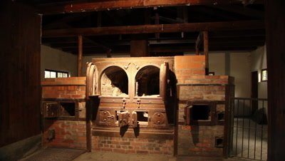 The first cremation ovens in the german 2.wold war concentration camp Dachau