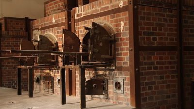 The new cremation ovens in the german 2.wold war concentration camp Dachau