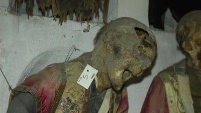 A mummyfied priest in the caputine catacomb i sicily