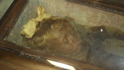 """""""The sleeping Beauty"""",a mummyfied little girl in the caputine catacomb"""